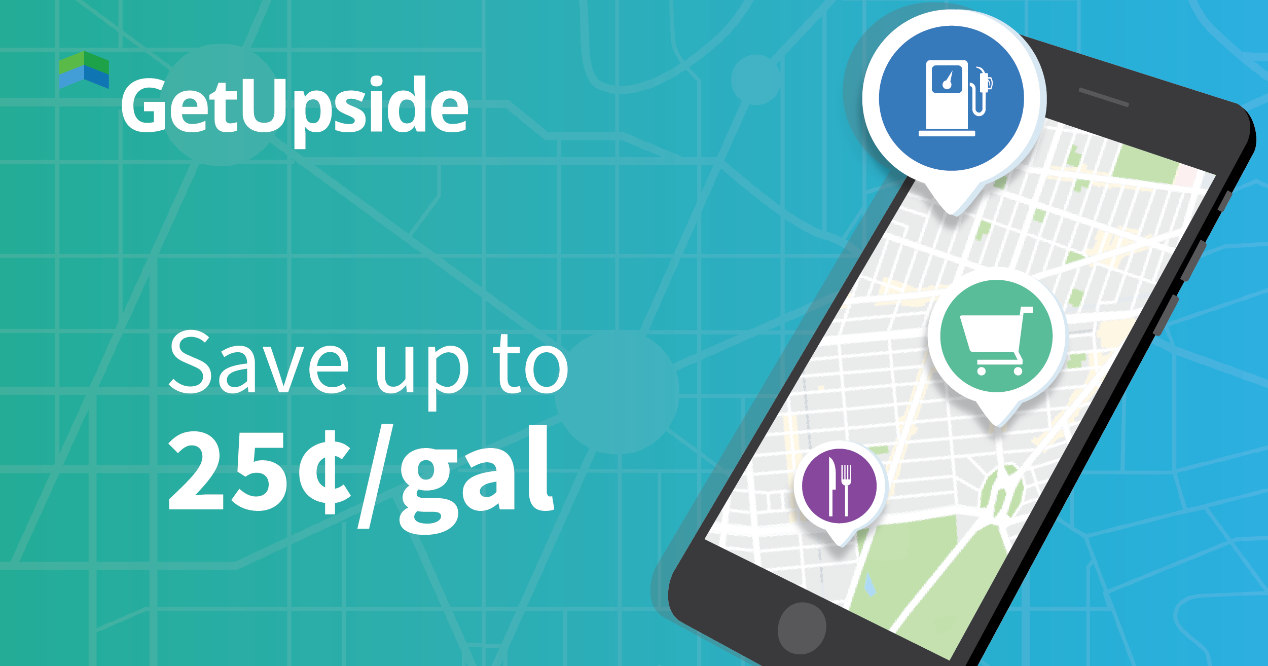 Food Deals & Local Gas Prices | GetUpside Free Cash Back App